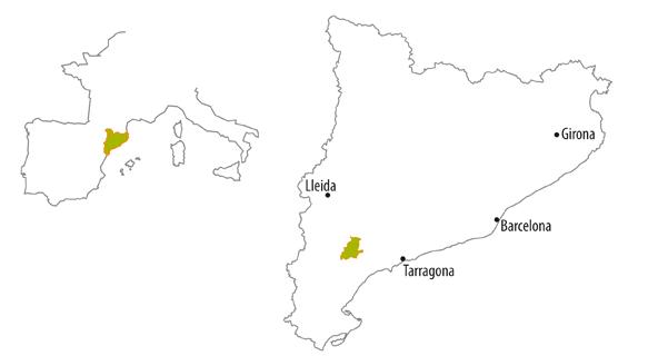 Spanien Katalonien Karte.Die Weinregion Priorat Doq Katalonien Spanien